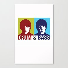 The Fab Four Drum and Bass Canvas Print