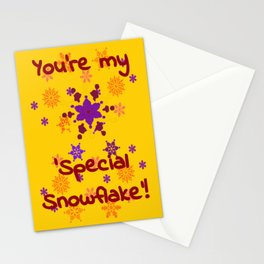Special Snowflake Stationery Cards
