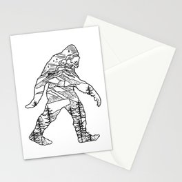 Bigfoot in the pacific northwest Stationery Cards