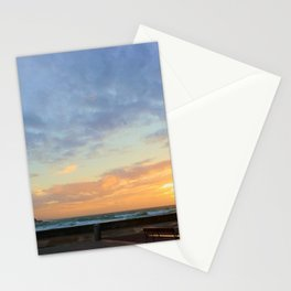 Sunset in La Zurriola Stationery Cards