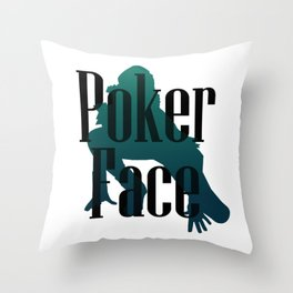 Poker Face Throw Pillow