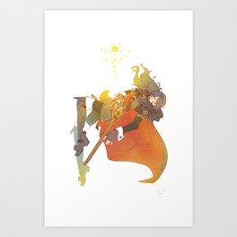 I Challenge My Fate Art Print
