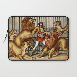 The Lion Tamer 1873 Vintage Circus Laptop Sleeve