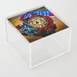 Roses and Wood Acrylic Box