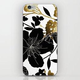 Black Azelea iPhone Skin