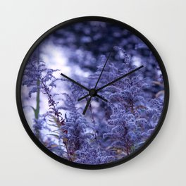 Magical Flowers by the Lake #1 #art #society6 Wall Clock