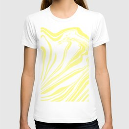 Yellow Marble Ink Watercolor T-shirt