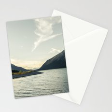 Rocky Mountain Lake At Dusk Stationery Cards