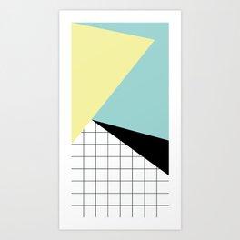 shapes and grid Art Print