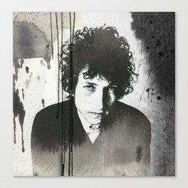 Bob Dylan B&W Canvas Print