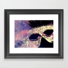 Mardi Gras Mask Framed Art Print