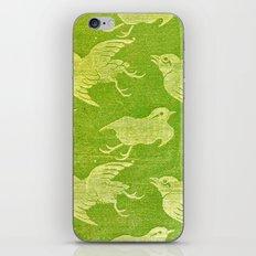 Asian oriental cranes birds green washi paper iPhone & iPod Skin