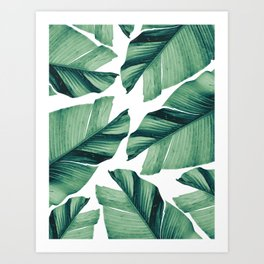 Tropical Banana Leaves Vibes #5 #foliage #decor #art Art Print