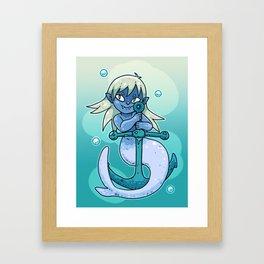 Sharp-toothed Mermaid Framed Art Print