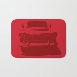 CHEVY PICKUP IN MONOCHROMATIC RED Bath Mat