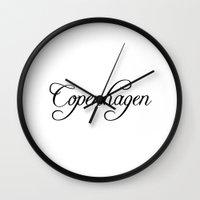 copenhagen Wall Clocks featuring Copenhagen by Blocks & Boroughs