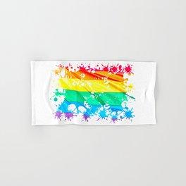 LGBTQ Splatter Hand & Bath Towel