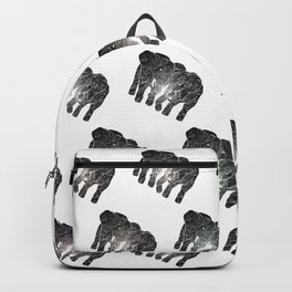 Two elephants - black and white Backpack