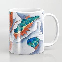 Minhwa: A Blue Dragon in the clouds Coffee Mug