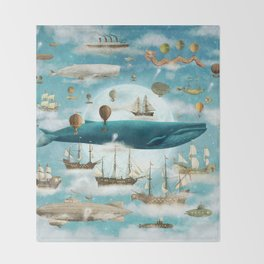 Ocean Meets Sky - option Throw Blanket