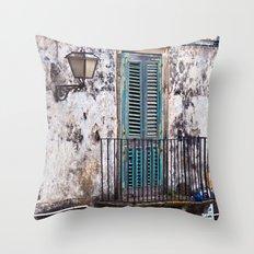 Medieval Sicilian Facade Throw Pillow