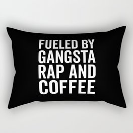 Gangsta Rap And Coffee Funny Quote Rectangular Pillow