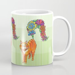A Cat Sprouting Flowers Coffee Mug