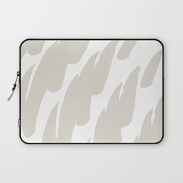 Neutral Abstract Brush Marks Laptop Sleeve