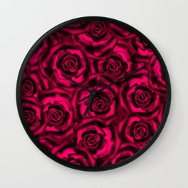 Raspberry roses. Wall Clock