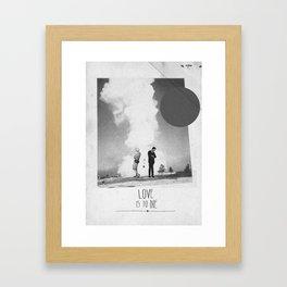 Love Is To Die   Collage Framed Art Print