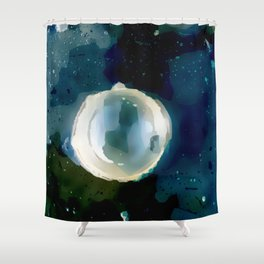 Ice Bubble Nebula. Shower Curtain