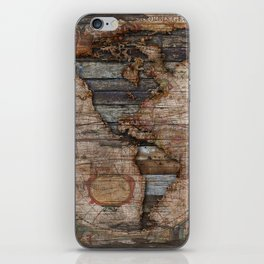 Reclaimed Map iPhone Skin