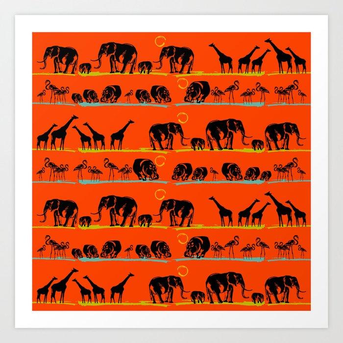 African animals Kunstdrucke