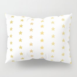 Luxe Gold Tiny Christmas Stars Confetti, Drawn Seamless Vector Pattern Pillow Sham