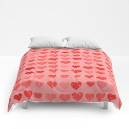 Pink Valentines Love Hearts Comforters