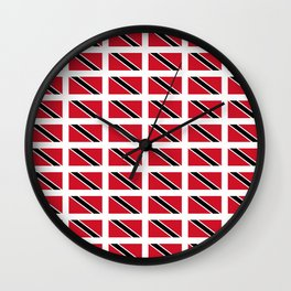flag of trinidad and Tobago -Trinidad,Tobago,Trinidadian,Tobagonian,Trini,Chaguanas. Wall Clock