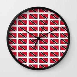 flag of trinidad and Tobago -Trinidad,Tobago,Trinidadian,Tobagonian,Trini,Chaguanas. Wall Clock