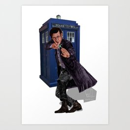 11th Doctor Art Print
