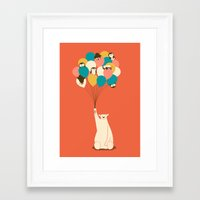 penguin Framed Art Prints featuring Penguin Bouquet by Jay Fleck