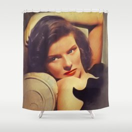Katharine Hepburn, Vintage Actress Shower Curtain