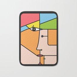 Rostros abstractos Bath Mat