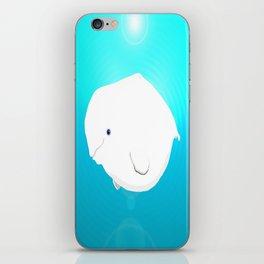 Fat Beluga Whale iPhone Skin
