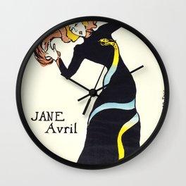 """Henri de Toulouse-Lautrec """"Jane Avril"""" Wall Clock"""