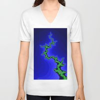 climbing V-neck T-shirts featuring tree climbing by donphil