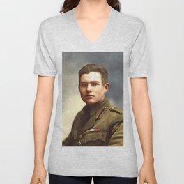 Ernest Hemingway, Writer Unisex V-Neck