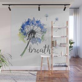 Breathe! Dandelion Floral Botanical Art Wall Mural
