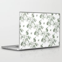 penis Laptop & iPad Skins featuring Penis Pattern GREEN by Daniel McLaren