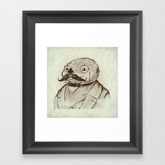 Proper Mr. Otter Framed Art Print