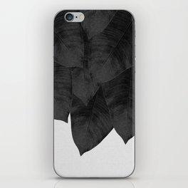 Banana Leaf Black & White I iPhone Skin