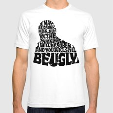 Best Churchill Quote Ever SMALL Mens Fitted Tee White